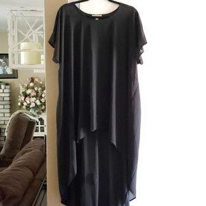 Black chiffon style tunic